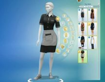 Sims 4 Restaurant Uniform (5)